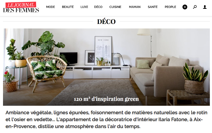 home tour with summer vibes journal des femmes d 39 int rieur aix en. Black Bedroom Furniture Sets. Home Design Ideas