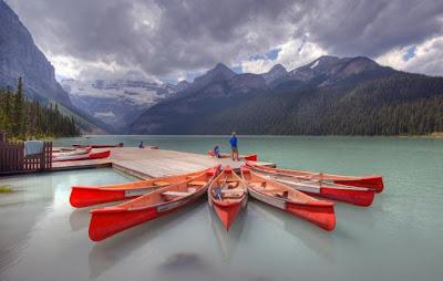 Increíble fotografía HRD canoas y lago