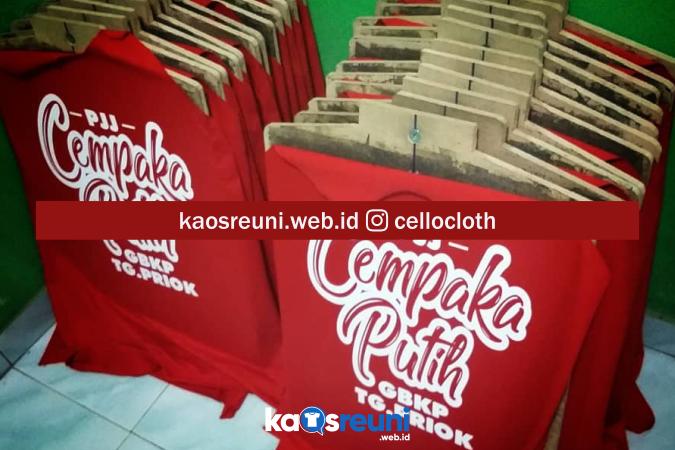 Kaos Gathering Bahan Cotton Combed 24s Adem Nyaman - Kaos Reuni Online