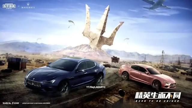PUBG Mobile'ye yakında Maserati kaplaması geliyor!