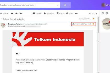 Rekrutmen Telkom: A Road To Great People Trainee Program Batch VI PT Telkom Indonesia (Persero) Tbk Part 3