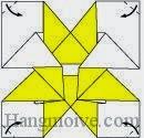 Bước 8: Gấp bốn góc giấy vào trong.
