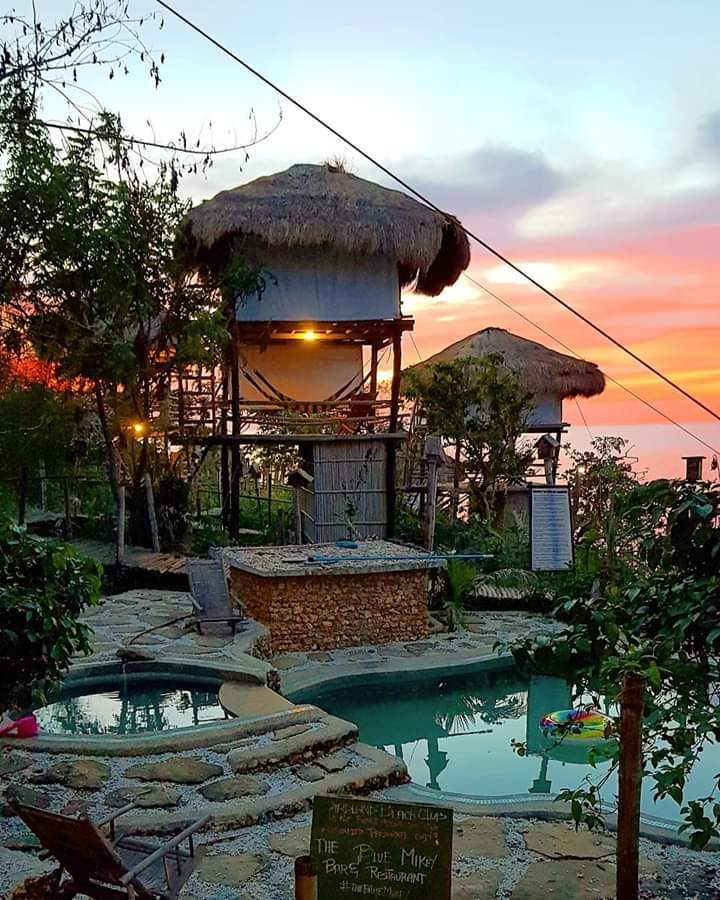Beautiful sunset at Birdland Beach Club