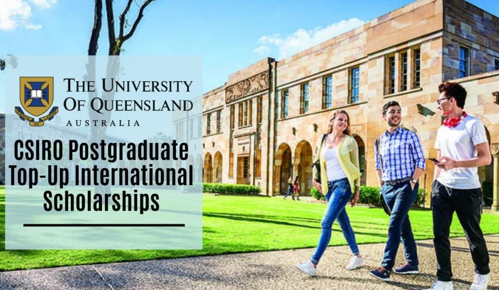 Bourses internationales complémentaires de troisième cycle CSIRO à l'Université du Queensland en Australie, 2020