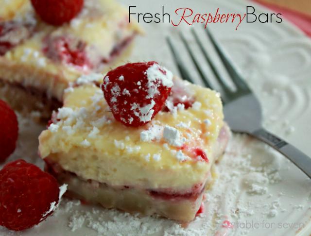 Fresh Raspberry Bars