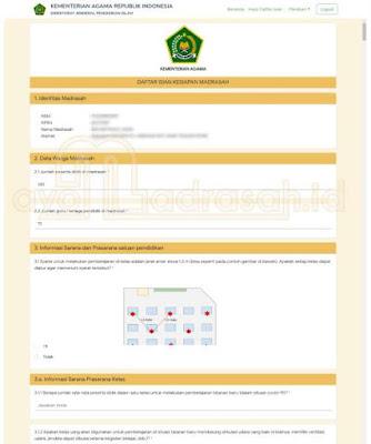 Pengisian Daftar Kesiapan PTM oleh Madrasah 2