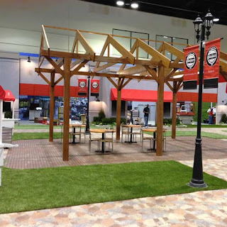 Greatmats natural looking artificial grass for trade show floor