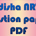 Odisha NRTS 2018 Exam Question Paper Download pdf