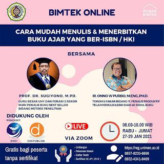Bimtek Online Buku Ajar Ber-ISBN / HKI