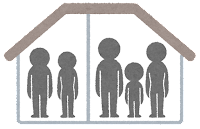 暮らしの形のマーク(二世帯住宅)