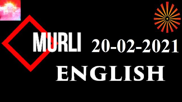 Brahma Kumaris Murli 20 February 2021 (ENGLISH)