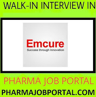 Urgent Vacancy at EMCURE PHARMACEUTICAL LTD. For Multiple Positions