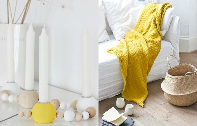 Complementos decorar en amarillo