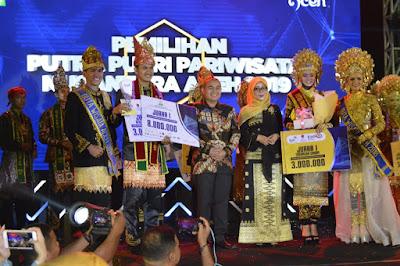 Agam Aceh Barat dan Inong  Banda Aceh Juara  putra putri pariwisata Aceh 2019