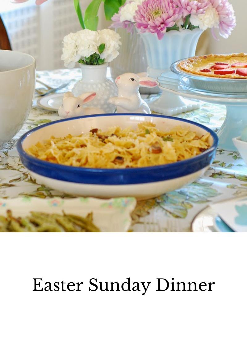 Easter Sunday dinner menu, sprin dinner menu