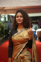 Aditi Myakal look super cute in saree at Mirchi Music Awards South 2017 ~  Exclusive Celebrities Galleries 001.JPG