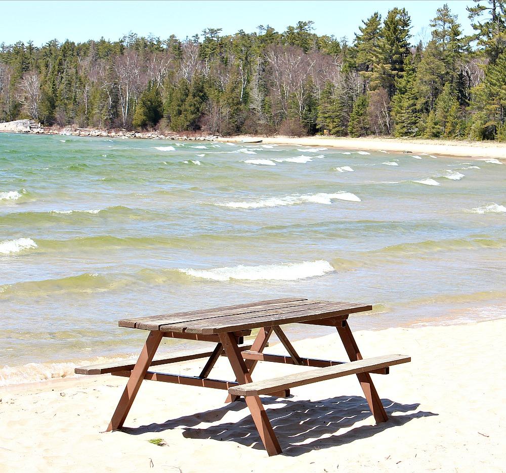 Picnic Table Lake Superior Beach