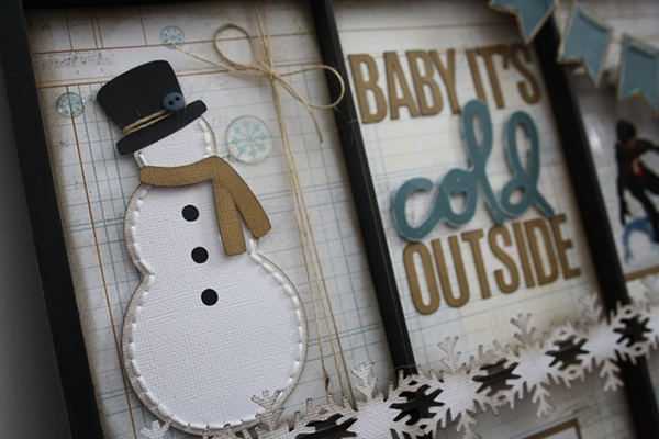 Sneak Peek of Project by Carolyn Wolf using Let It Snow Free Digital Cut File by Juliana Michaels