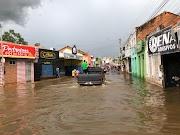 Imagens mostram a situação atual das ruas alagadas em Trizidela do Vale