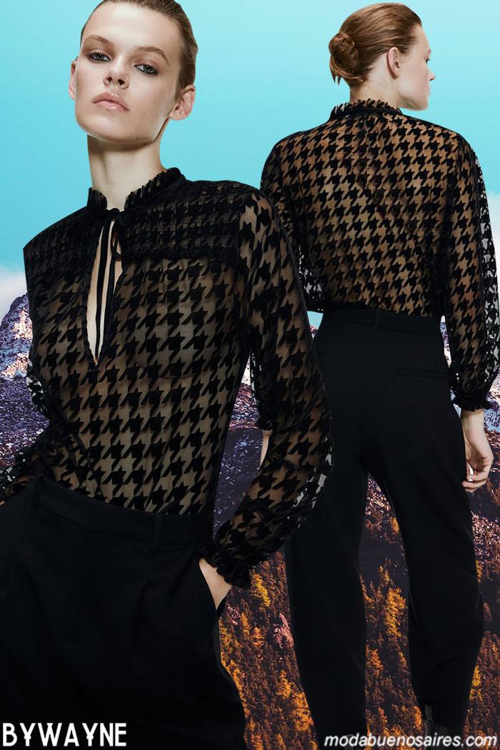 Camisas con transparencias 2020 invierno 2020. Otoño invierno 2020 moda.