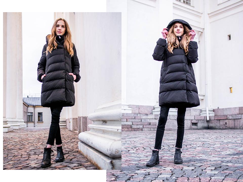A chic way to wear a puffer coat - Tyylikäs tapa pukeutua toppatakkiin