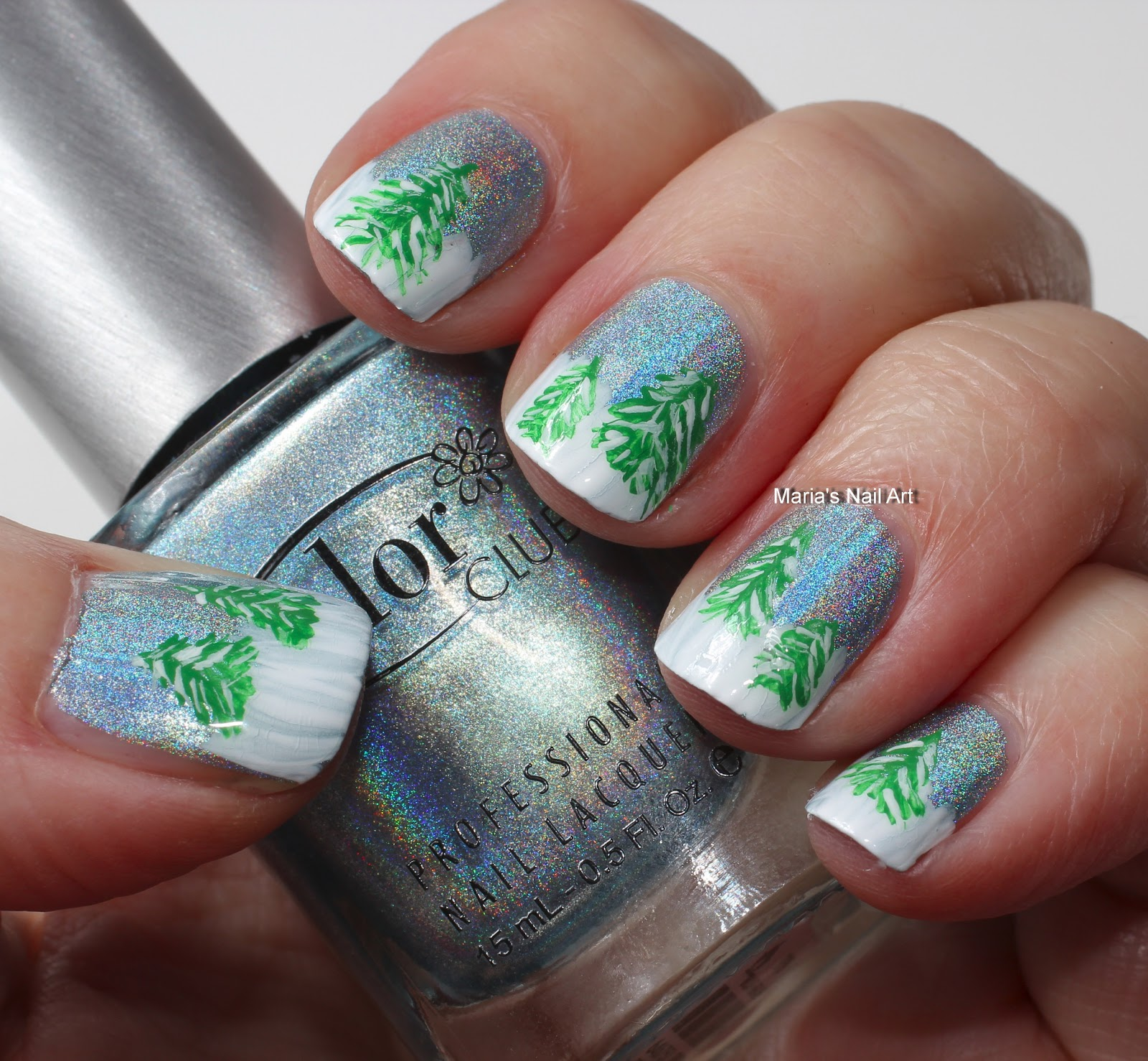 Piggieluv Freehand Stairway To Heaven Nail Art: Marias Nail Art And Polish Blog: The Holographic Sky