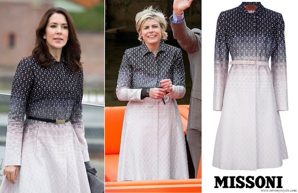 Crown Princess Mary of Denmark and Princess Laurentien of the Netherlands both have the same coat by Missoni.