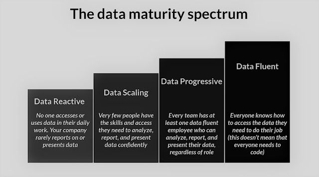 The data maturity spectrum by DataCamp