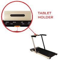 Digital monitor with tablet holder on Sunny Health & Fitness Asuna 8730G Treadmill, image