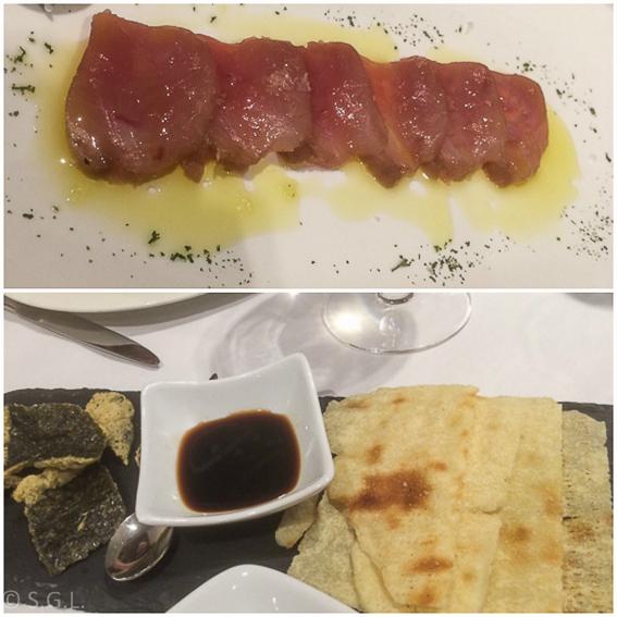 Restaurante Mugarra-Sasimi de atún