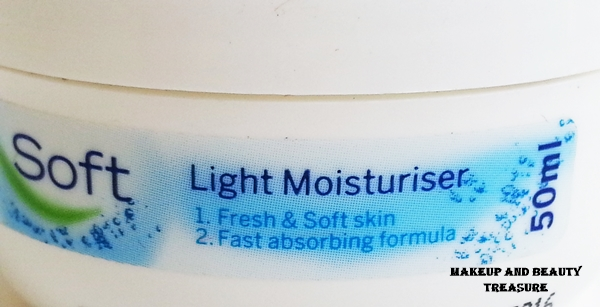 nivea soft vitamin e light moisturizer