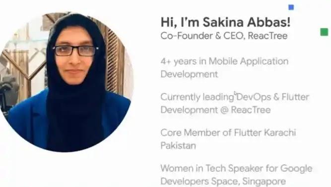 Sakina Abbas, Pakistan's First FemaleGoogle Developers Expert in Flutter