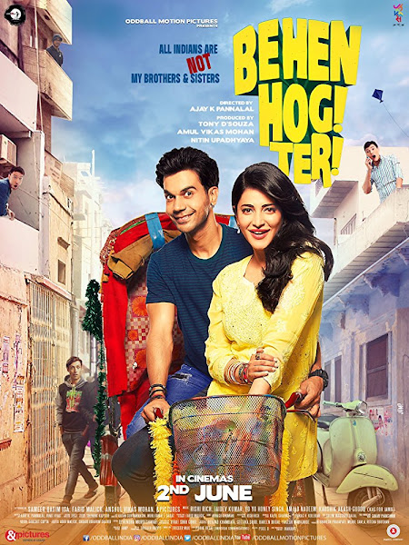 Poster of Behen Hogi Teri (2017) Full Movie Hindi 720p HDRip Free Download