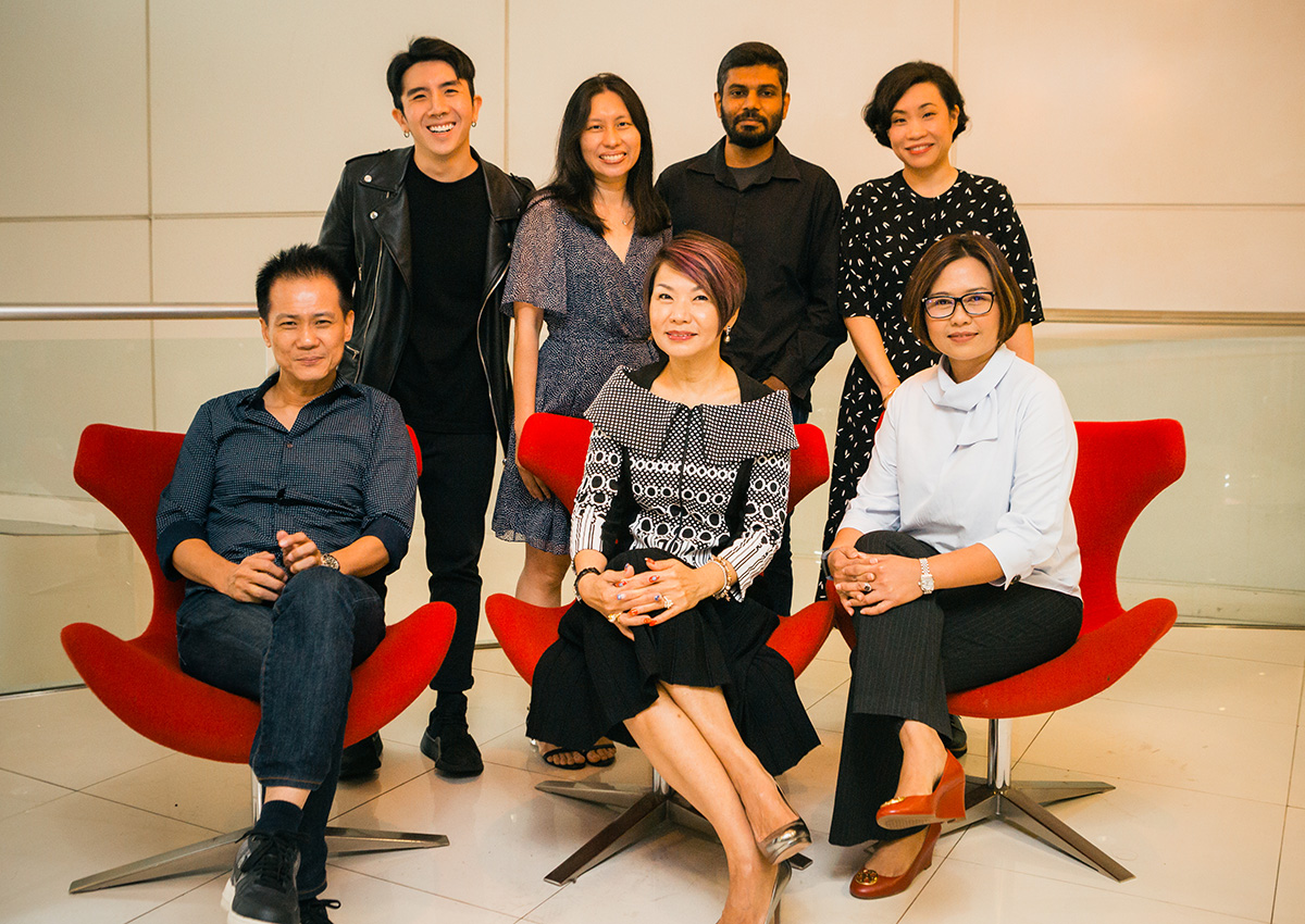 The filmmakers and writer with (seated from left) Ng Say Yong, mm2 Entertainment's chief content officer, Karen Tan, MCI's senior director of public communications and Soffy Hariyanti, MCI's director of campaigns and production, public communications.