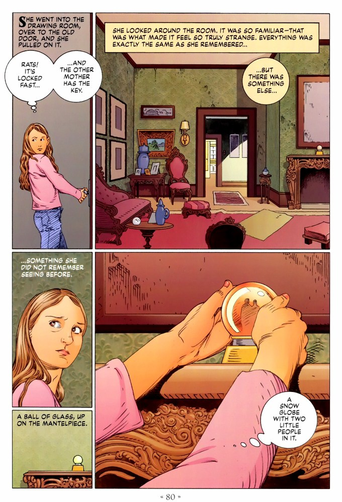 Read page 80, from Nail Gaiman and P. Craig Russell's Coraline graphic novel