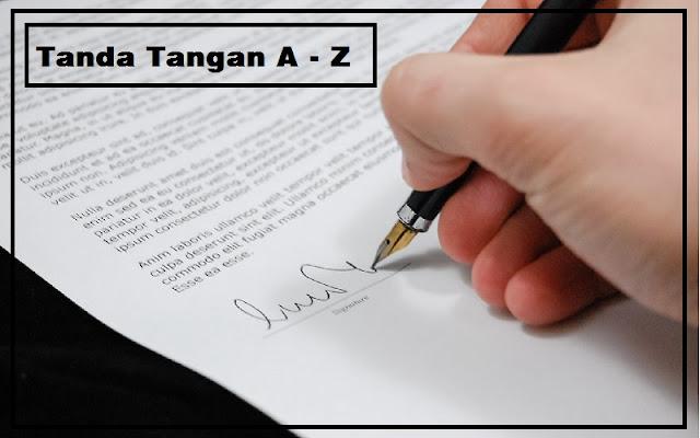 contoh tanda tangan A - Z