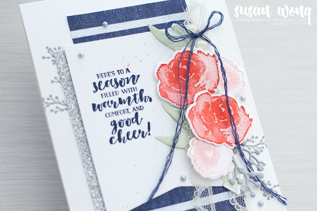 First Frost by Stampin' Up! - Christmas card with modern colour palette - Susan Wong