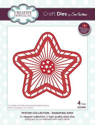 Festive Collection Radiating Star Dies - CED3094