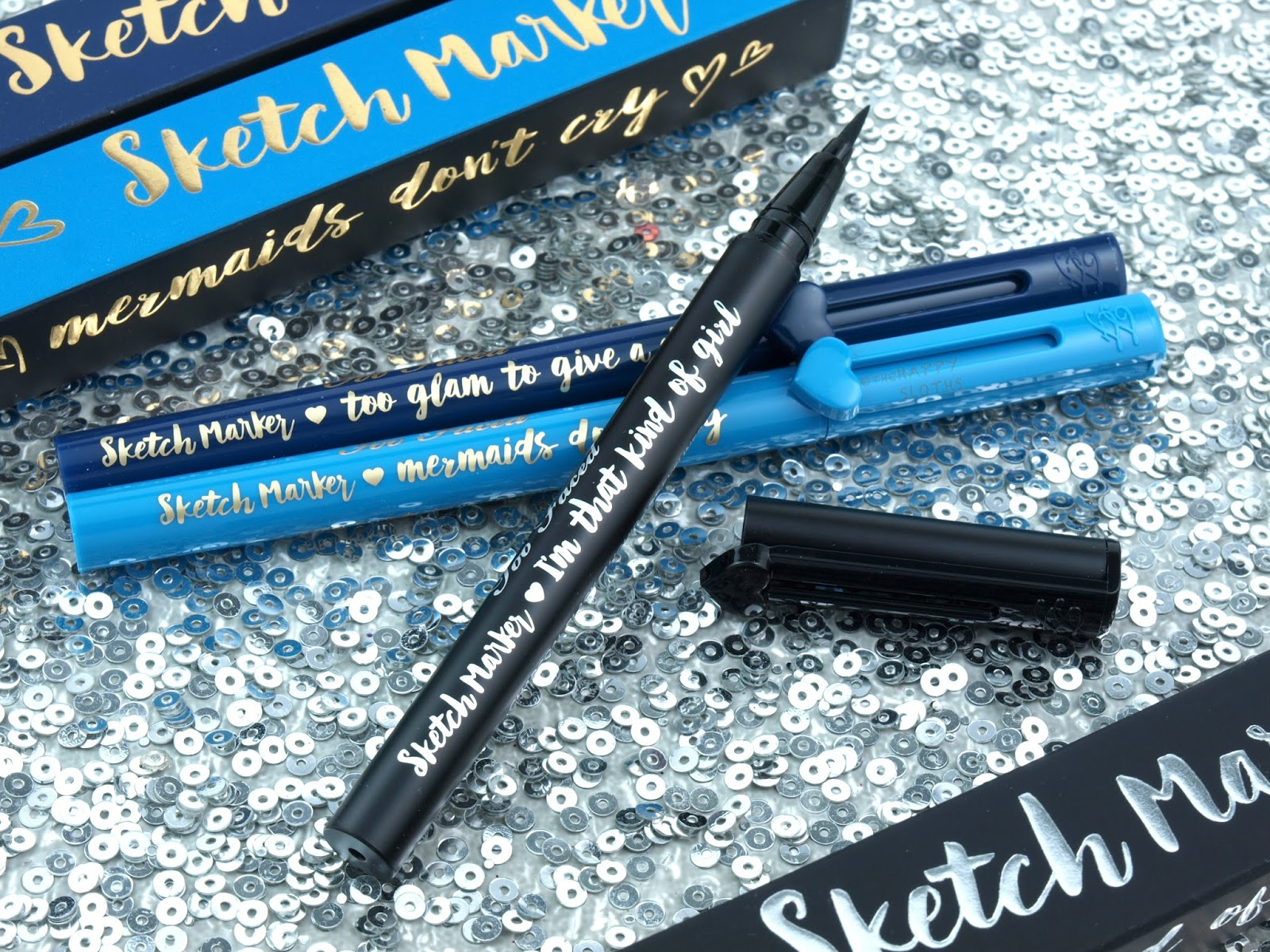 Too Faced Sketch Marker Liquid Art Eyeliner Review And Swatches