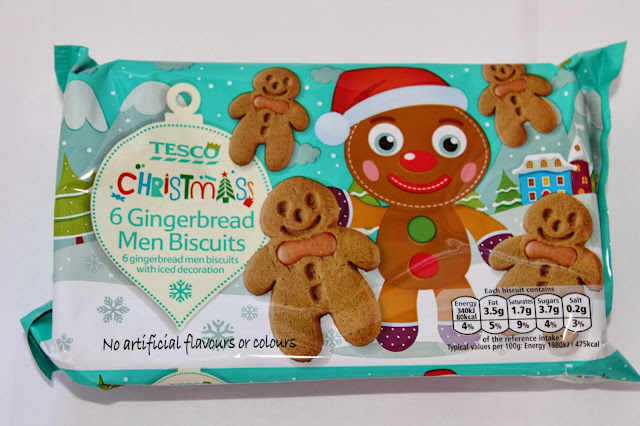 Gingerbread Man Presents Tesco Biscuits
