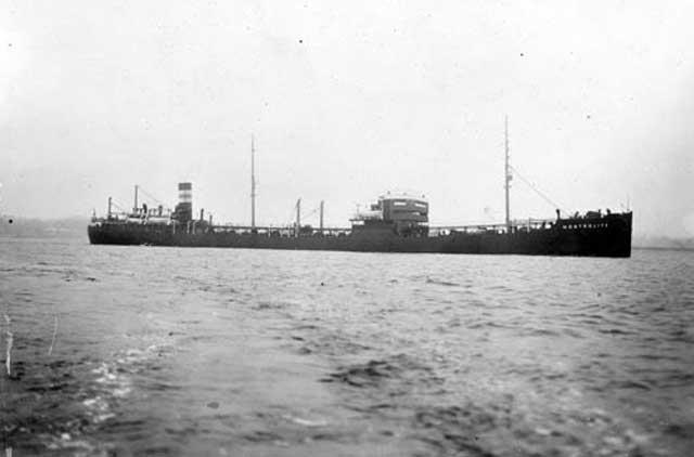 Canadian tanker Montrolite, sunk on 4 February 1942 worldwartwo.filminspector.com