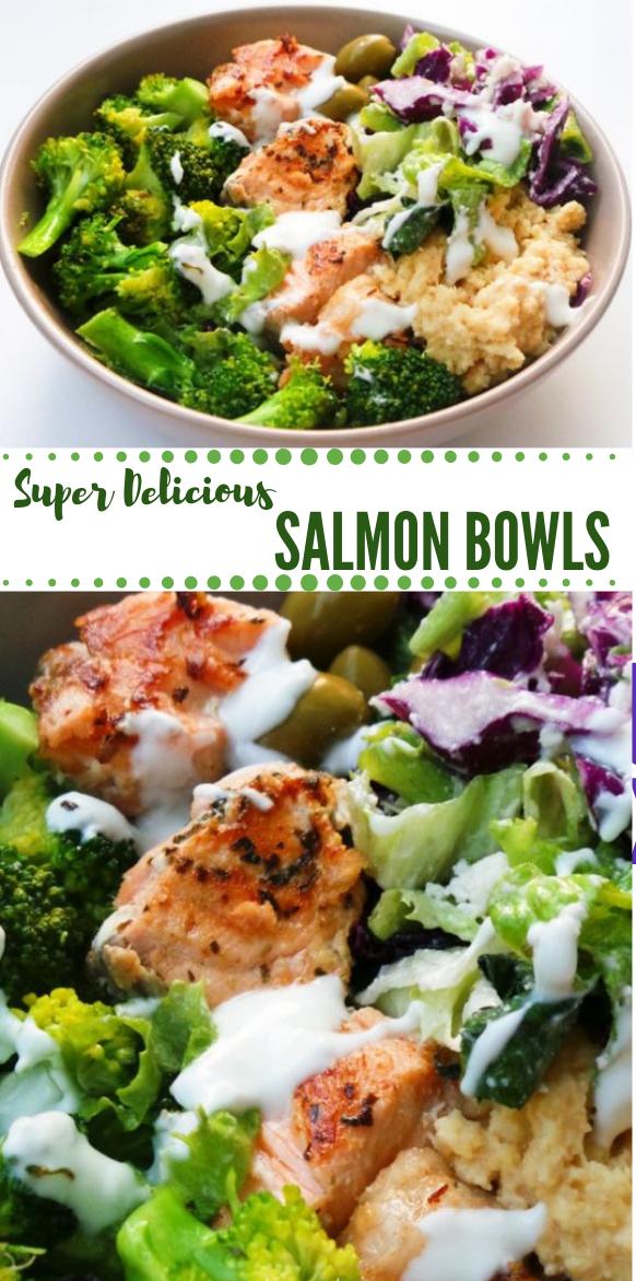 MEDITERRANEAN SALMON BOWL #salmon #healthydiet #familyrecipe #keto #paleo