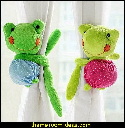 Animal Cartoon Plush Frog Window Curtain Tieback