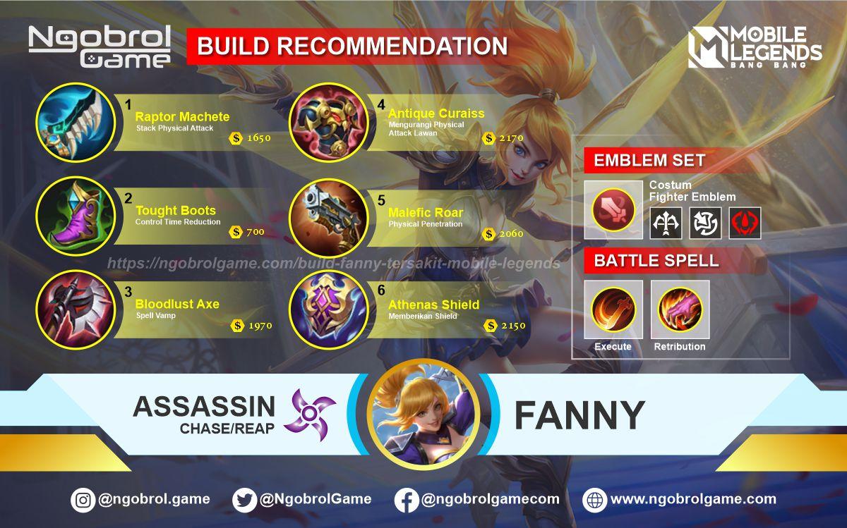 Build Fanny Tersakit 2021 Mobile Legends