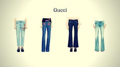 Calças Jeans Femininas da Gucci