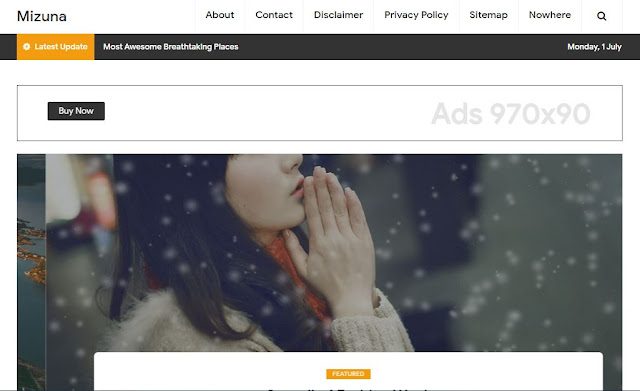 Mizuna - Template Blog Traveler
