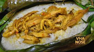 Nasi bakar ayam suwir by Vhanosee.com