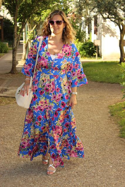 robe longue sézane, robe bonnie, look du jour, les petites bulles de ma vie