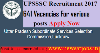 UPSSSC-641-post-Recruitment-2017
