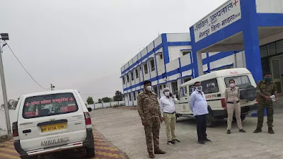 Nainpur news : सिविल हॉस्पिटल की तहसीलदार देखी व्यवस्था